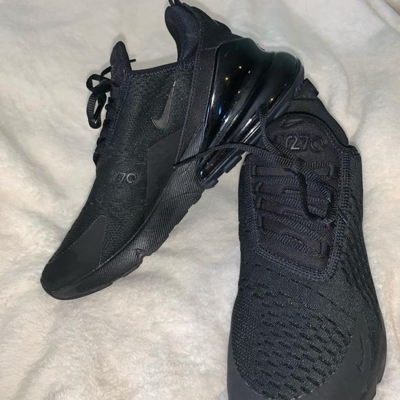 triple black air max 270 on feet